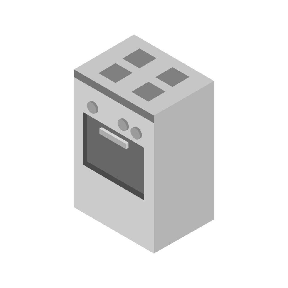 isometrische oven geïllustreerd op witte achtergrond vector