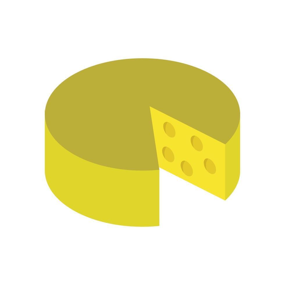 isometrische kaas op witte achtergrond vector