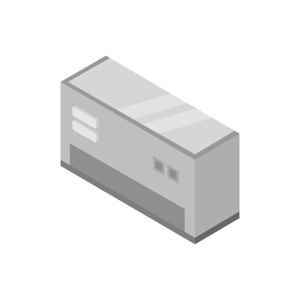 isometrische conditioner geïllustreerd op witte achtergrond vector