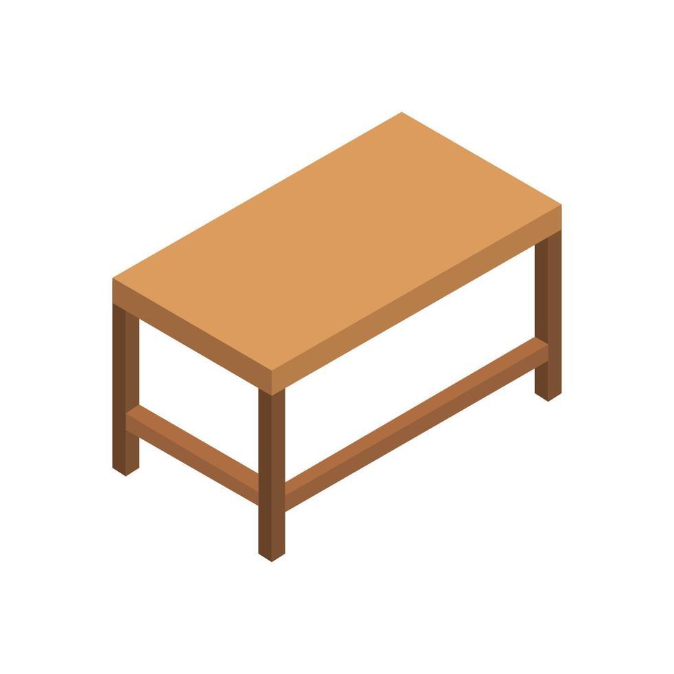 isometrische schooltafel op witte achtergrond vector