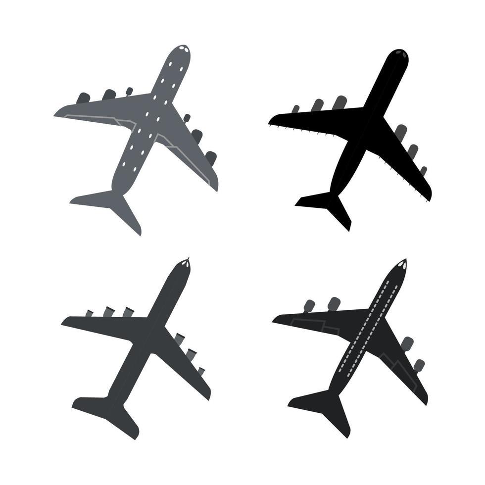 aantal vliegtuigen op witte achtergrond vector