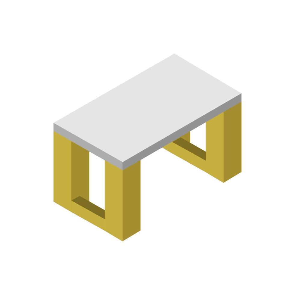 isometrisch bureau geïllustreerd op witte achtergrond vector