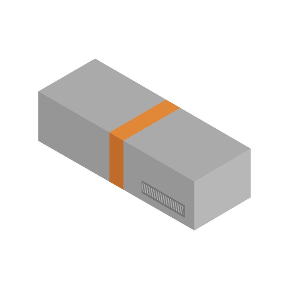 isometrische doos op witte achtergrond vector