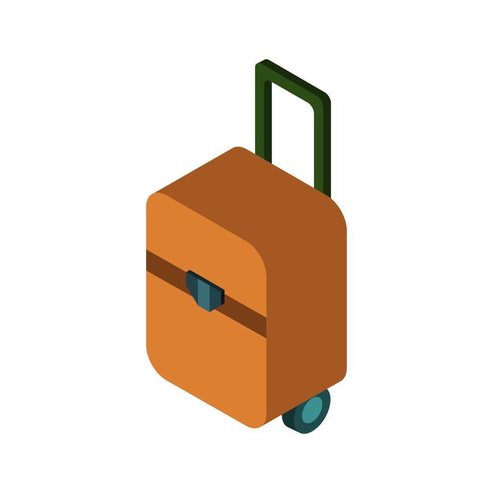 isometrische reiskoffer op witte achtergrond vector