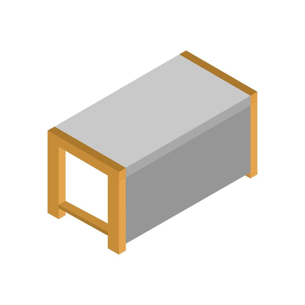 isometrische tabel geïllustreerd op witte achtergrond vector