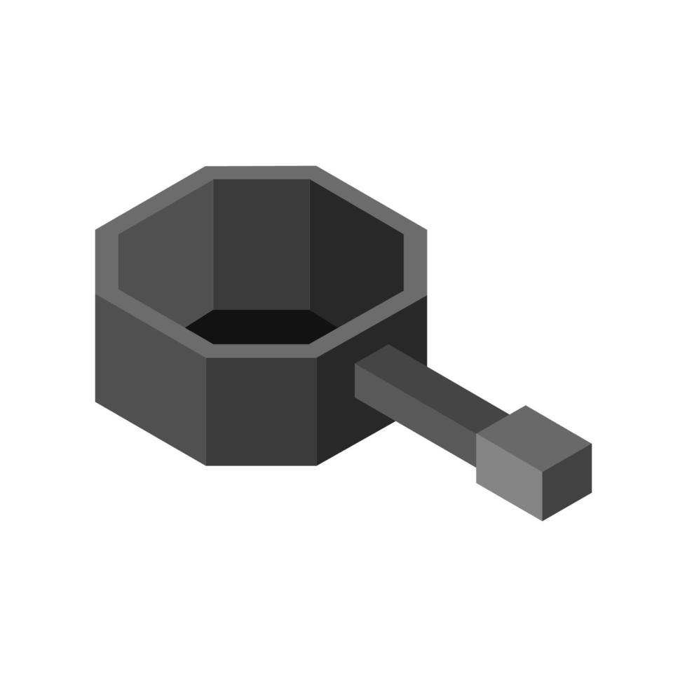 isometrische pot op witte achtergrond vector