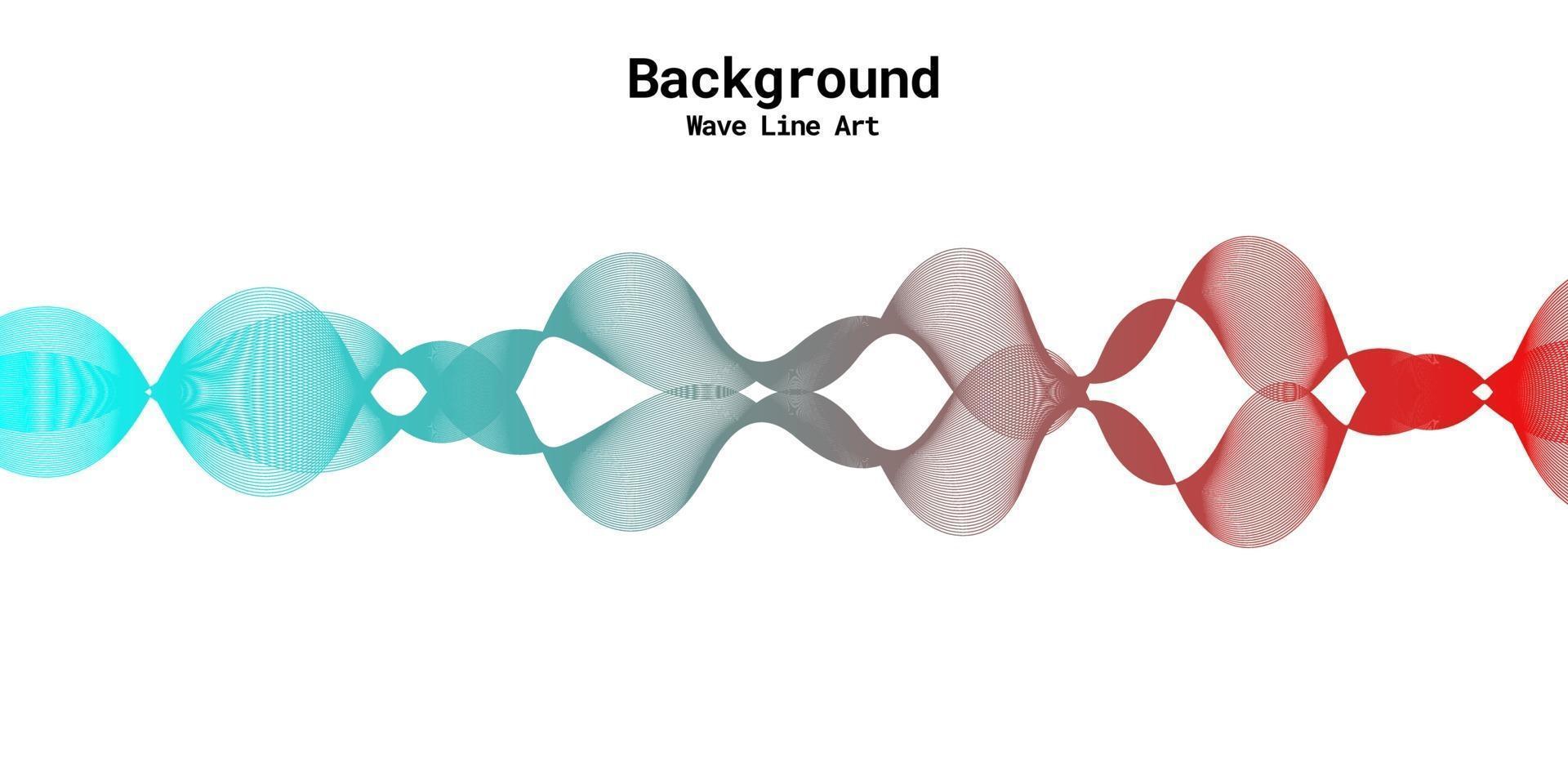 moderne abstracte achtergrond met golvende lijnen in rode en blauwe gradaties vector