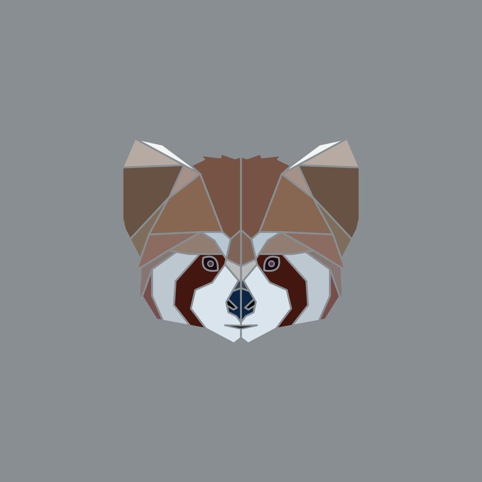geometrisch rood pandakop vector