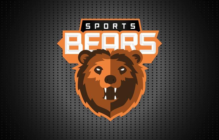 Basketbal Mascotte Logo Template Vector