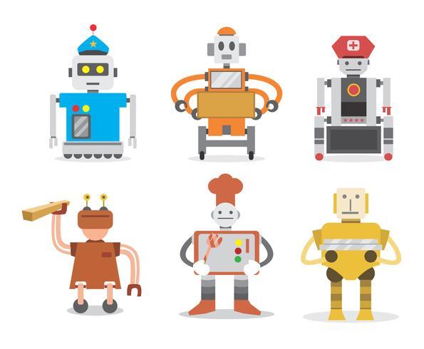 Robot werknemers Vector