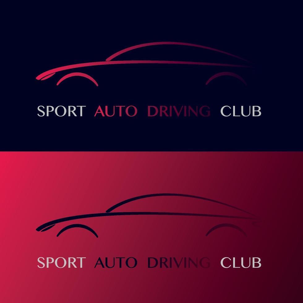 sport auto rijden club ontwerp logo. vector