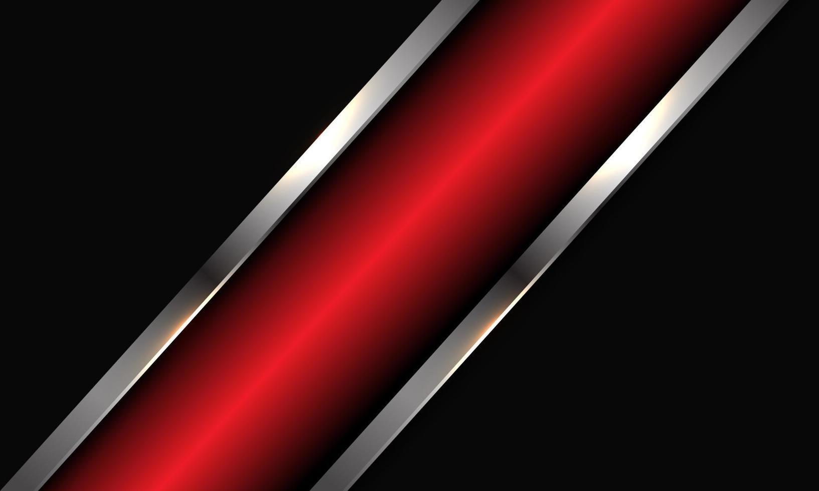 abstracte rode metallic zilveren lijn schuine streep op donkergrijze ontwerp moderne luxe futuristische achtergrond vectorillustratie. vector