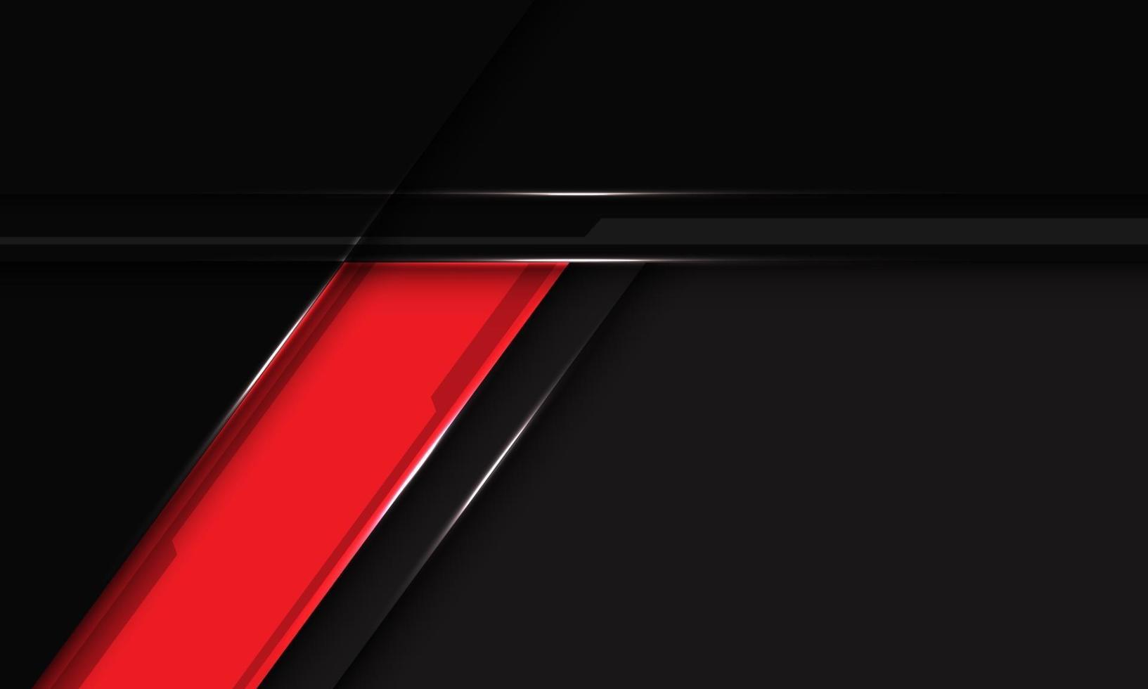 abstracte rode label zwarte metalen schuine streep overlapping met lege ruimte ontwerp moderne futuristische achtergrond vectorillustratie. vector