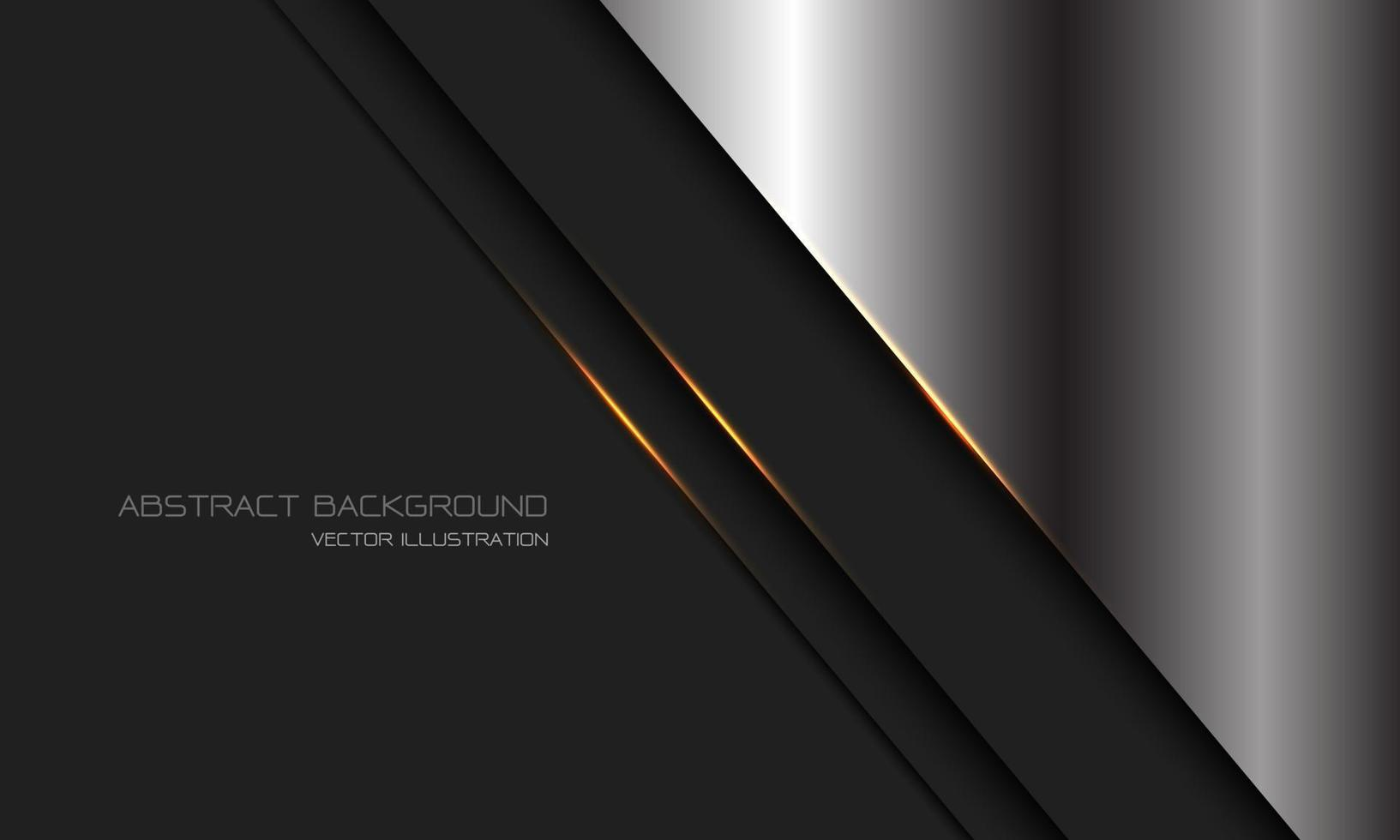 abstracte zilver donkergrijs metallic goud lichte lijn schuine streep met lege ruimte ontwerp moderne luxe futuristische technologie achtergrond vectorillustratie. vector