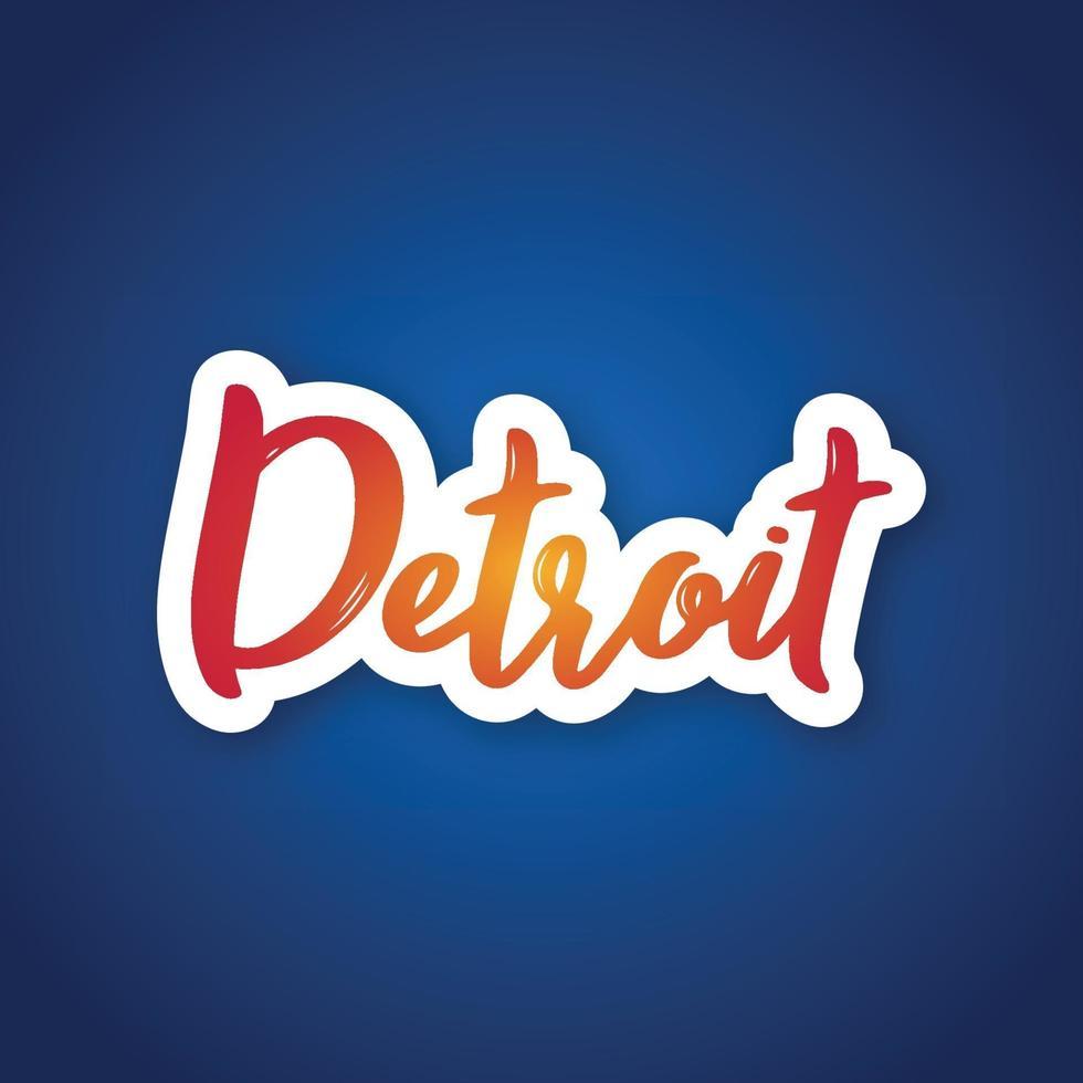 Detroit - handgeschreven naam van ons stad. vector