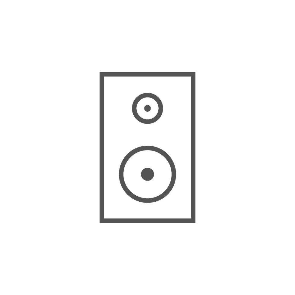 stereo luidspreker vector geïsoleerde pictogram voor grafisch en webdesign