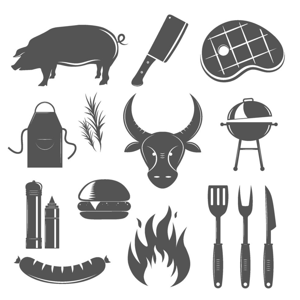 steakhouse vintage elementen vector