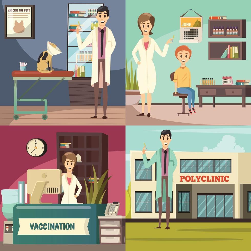 verplichte vaccinatie orthogonaal 2x2 vector