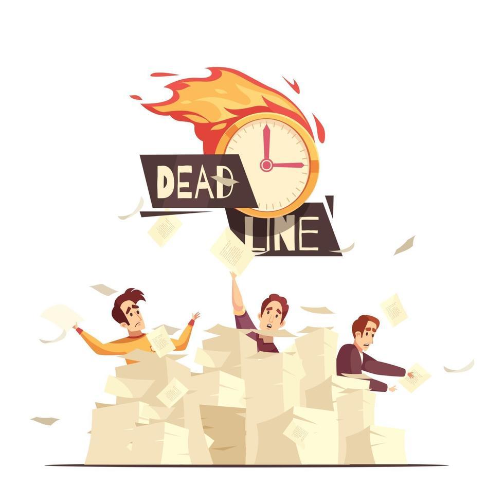 deadline vectorillustratie vector