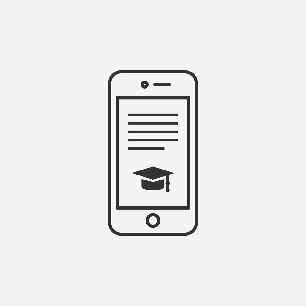 online onderwijs vector geïsoleerd pictogram op grijze achtergrond