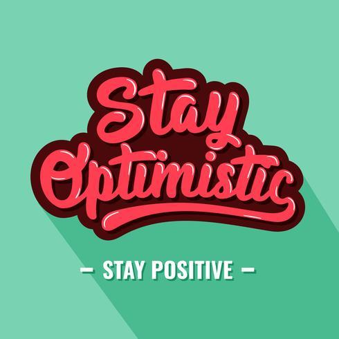 Retro Stay Optimistische typografie vector