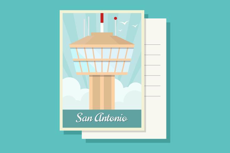 San Antonio briefkaart Vectoren