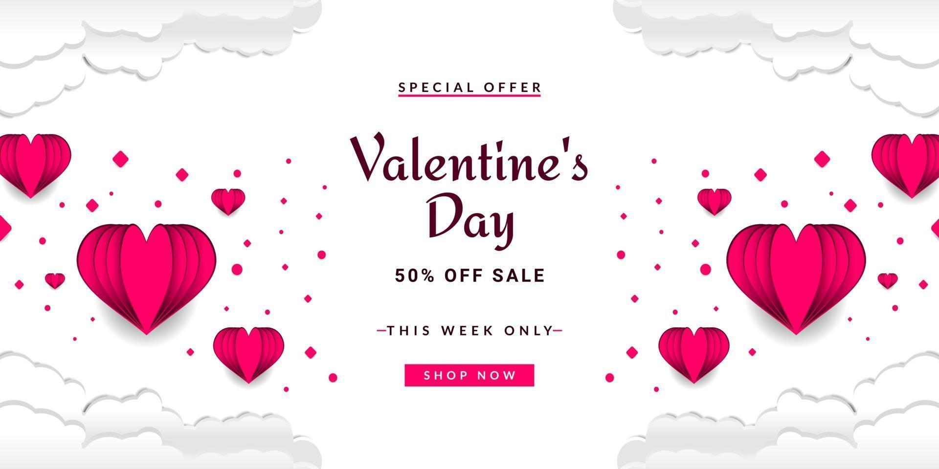 valentijnsdag verkoop achtergrond vector