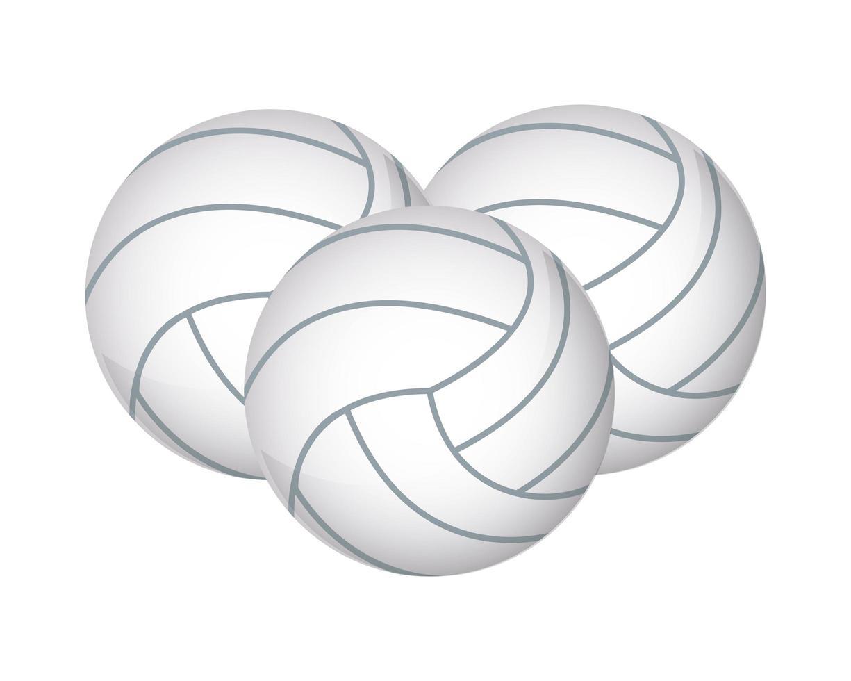 volleyballen apparatuur pictogrammen vector