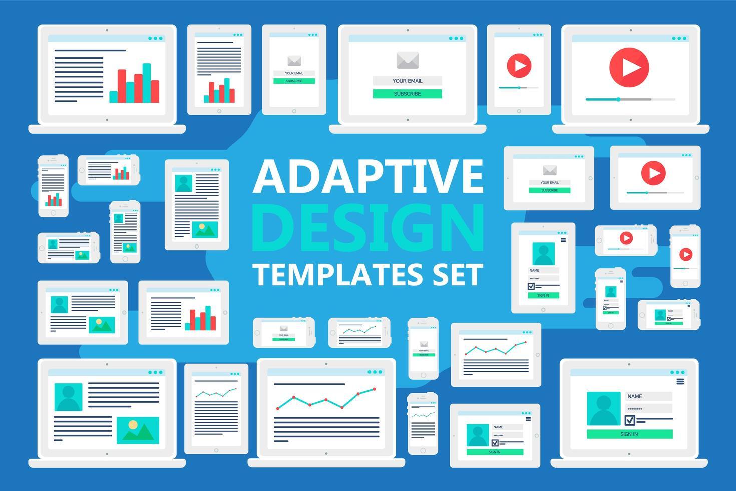 adaptieve websjablonen vector