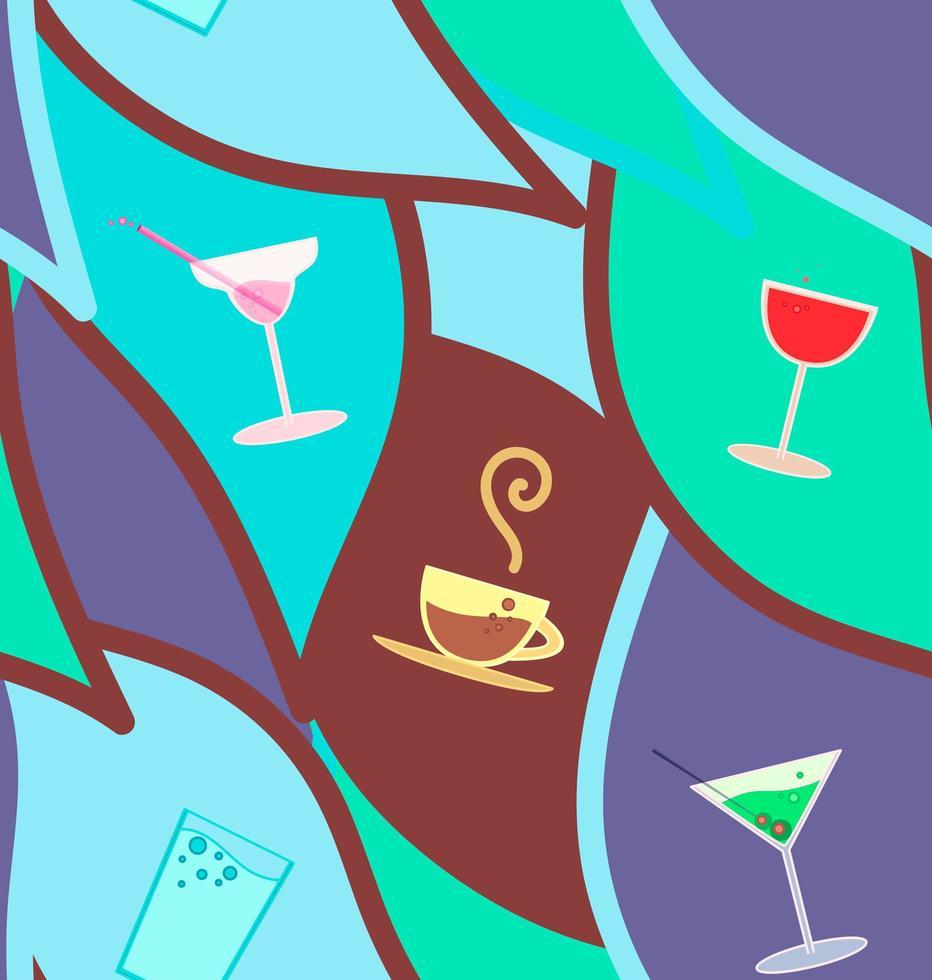 vector naadloze patroon met cocktails