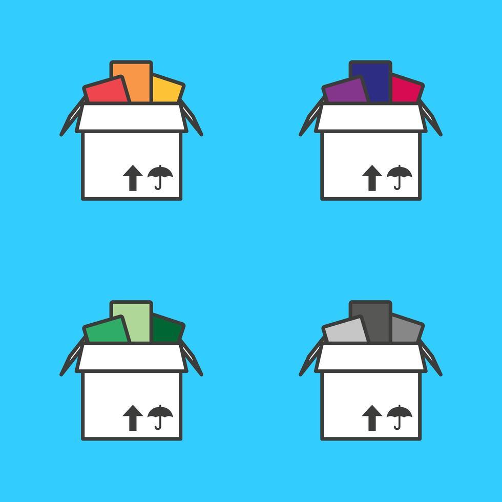 volledige kartonnen doos vector