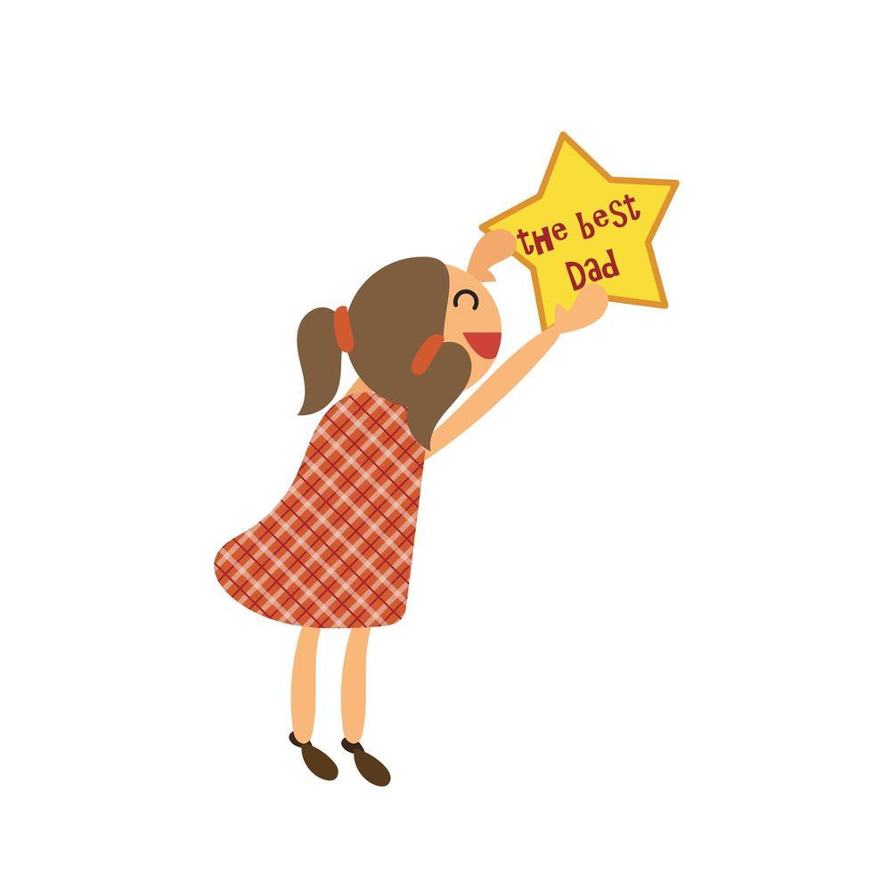 gelukkige vaders dag sticker vector