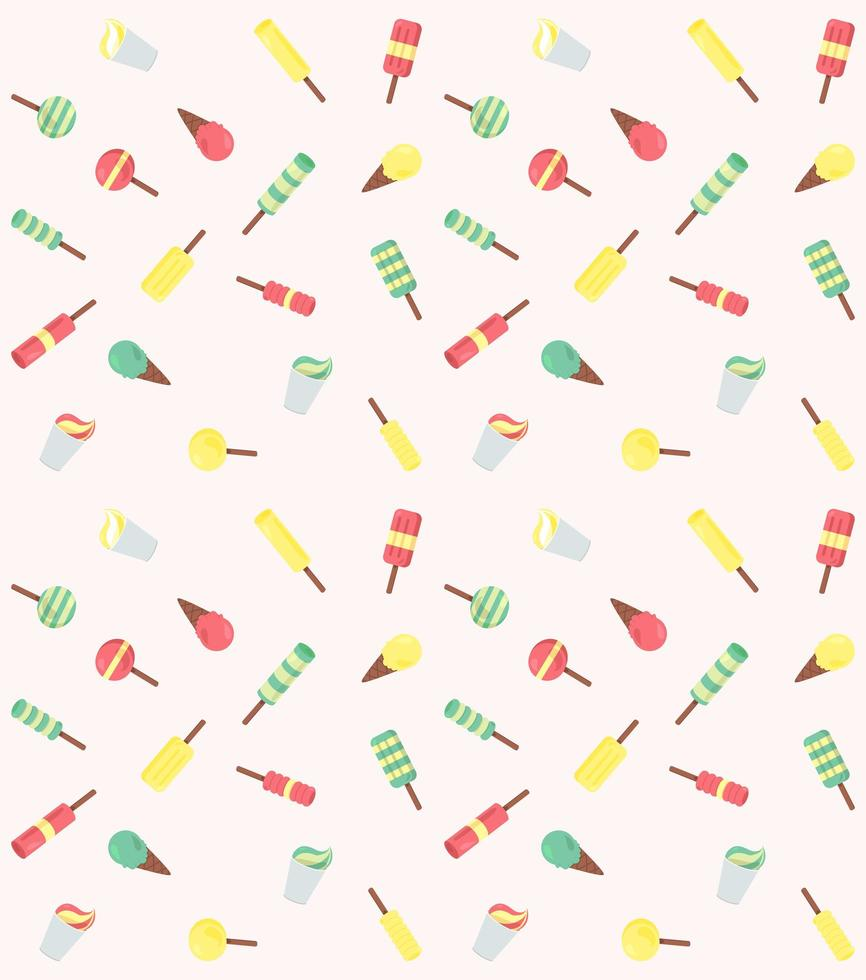 vector naadloze patroon van consumptie-ijs