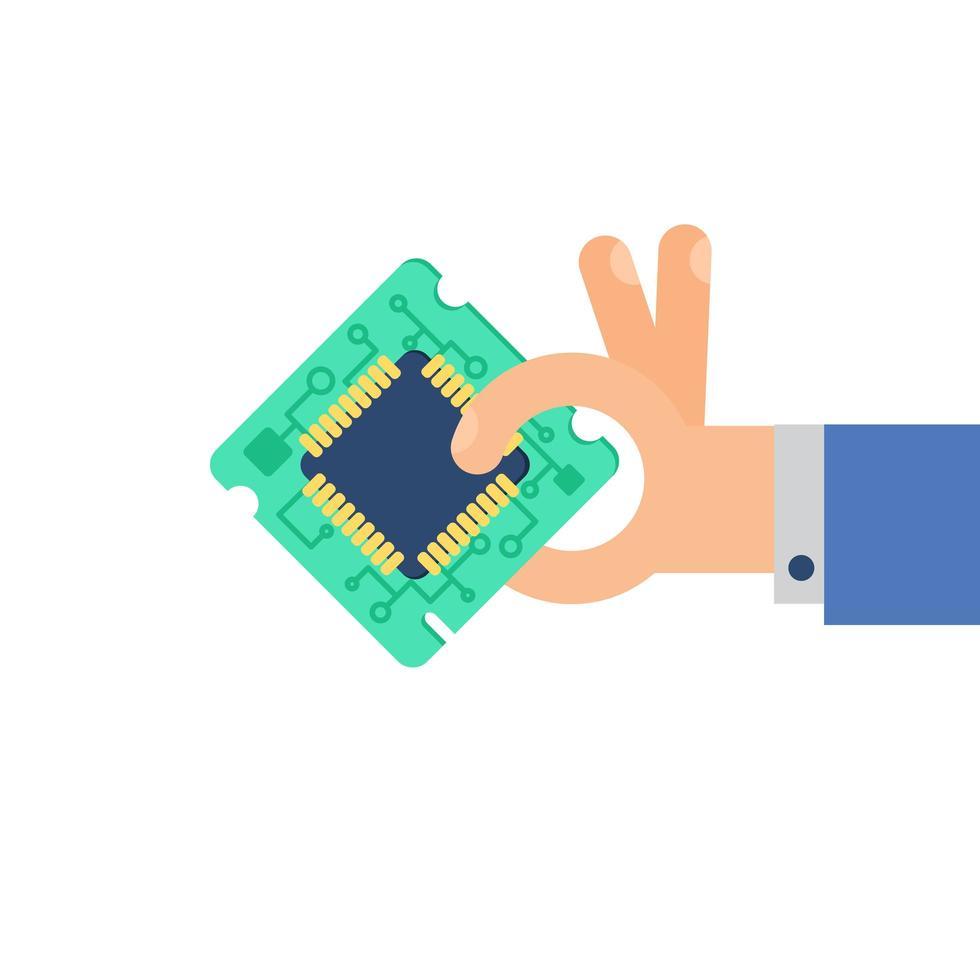 computer processor chip vector