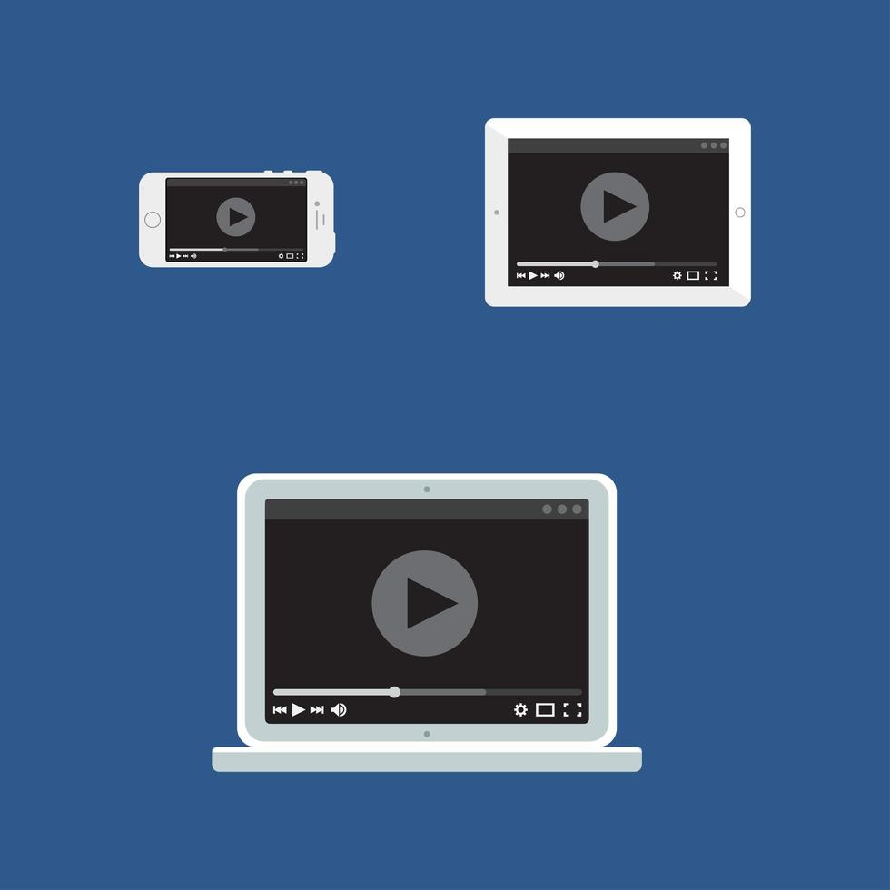 websjabloon van adaptief videoformulier vector