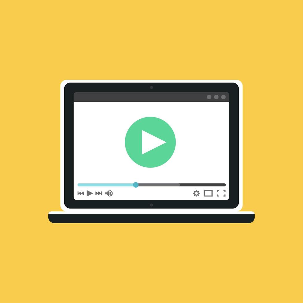 websjabloon van notebookvideoformulier vector