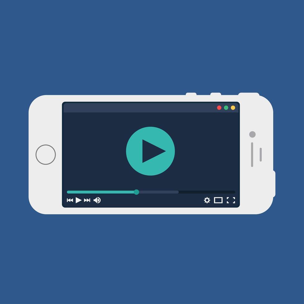websjabloon van smartphone-videoformulier vector