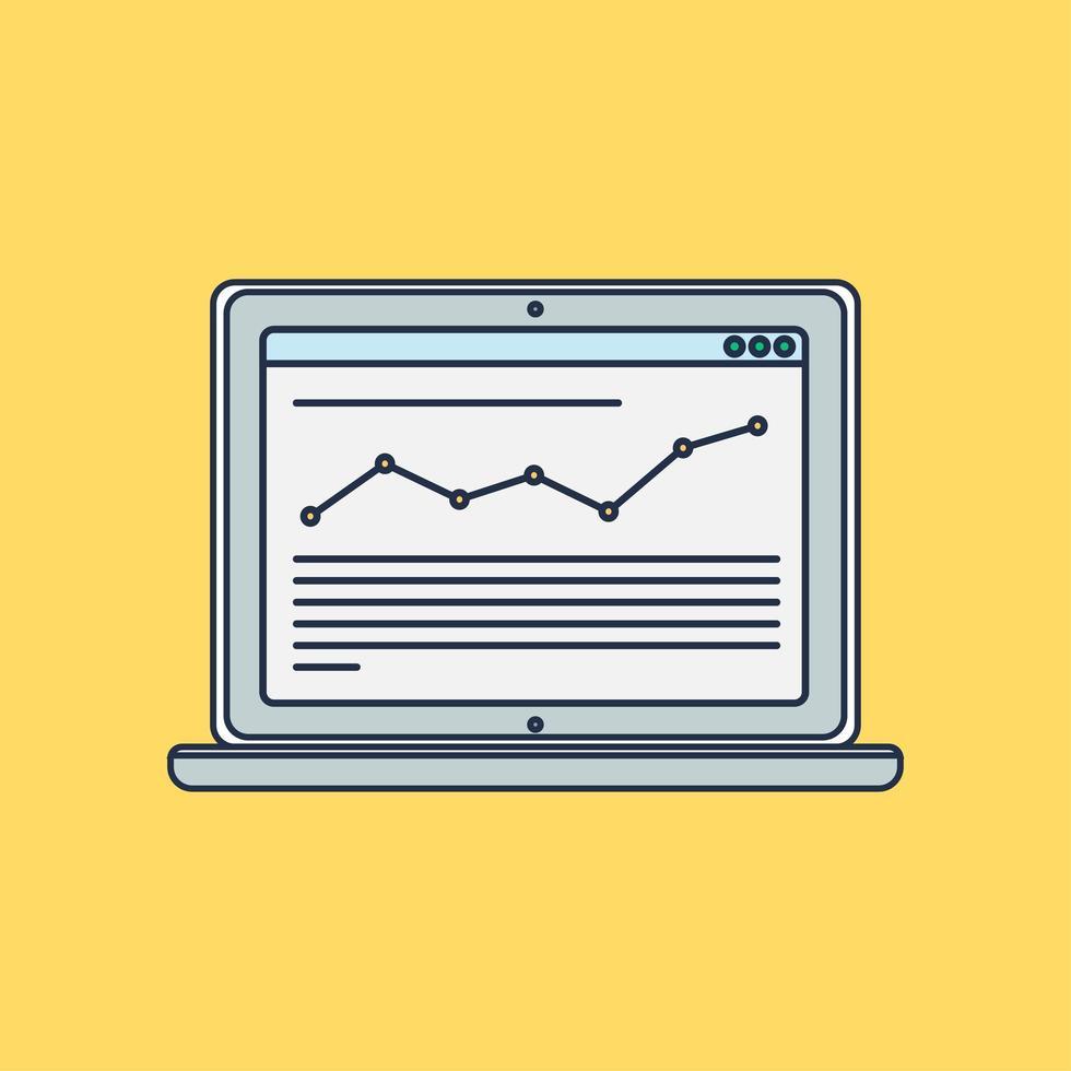 websjabloon van computersite of artikelformulier vector