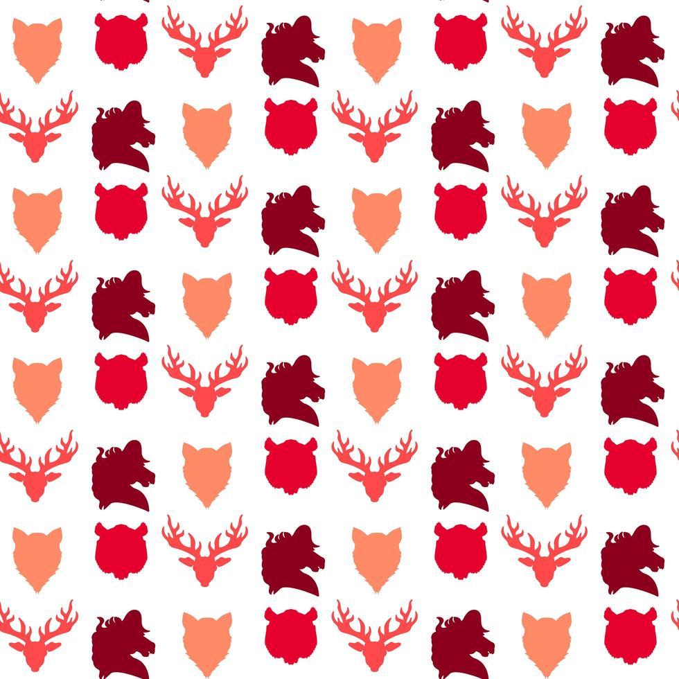 dieren in het wild naadloze patroon vector
