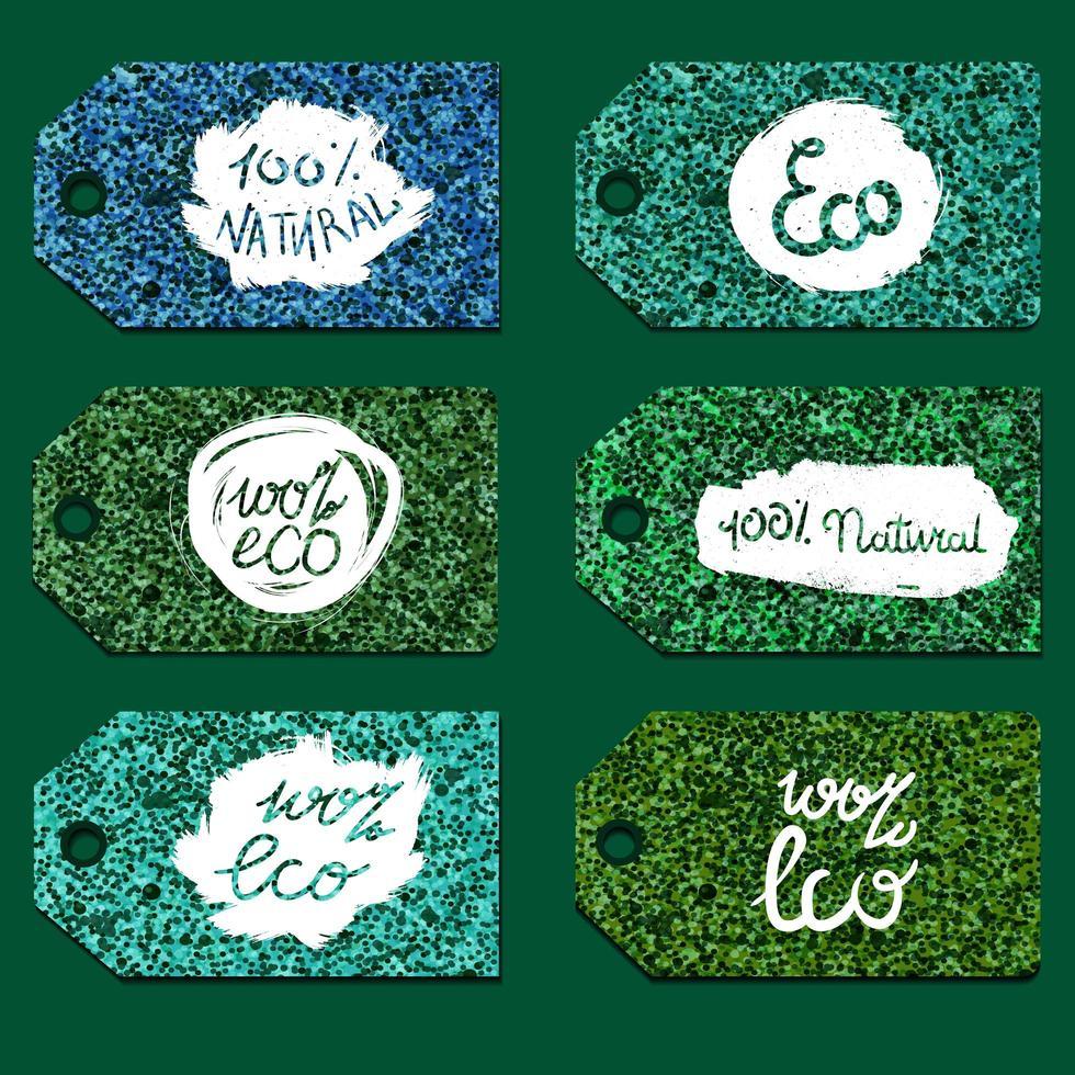 eco natuurlijke belettering vector