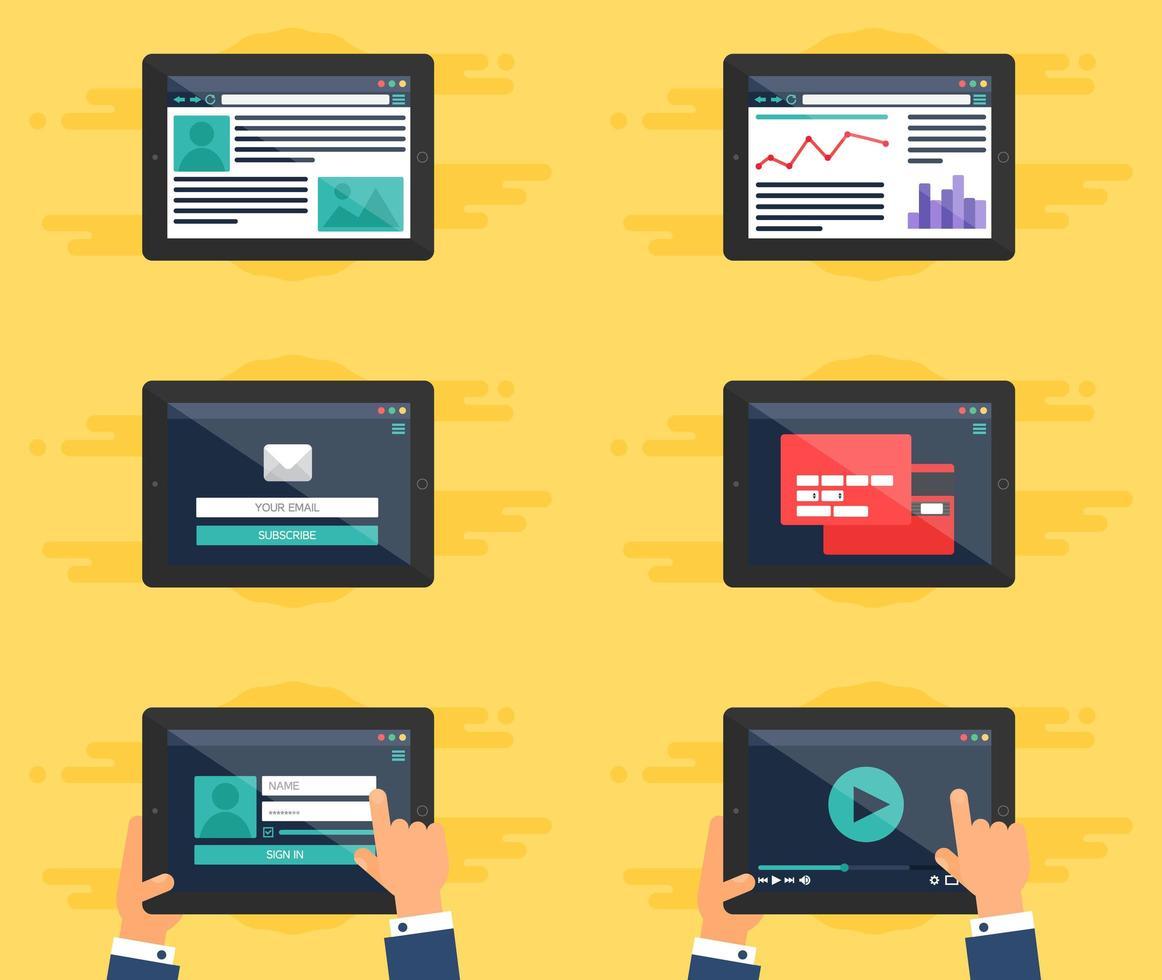 websjabloonformulier op tablet vector