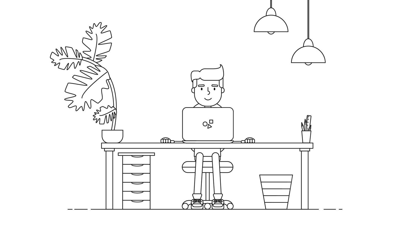 creatieve technische werkruimte vector