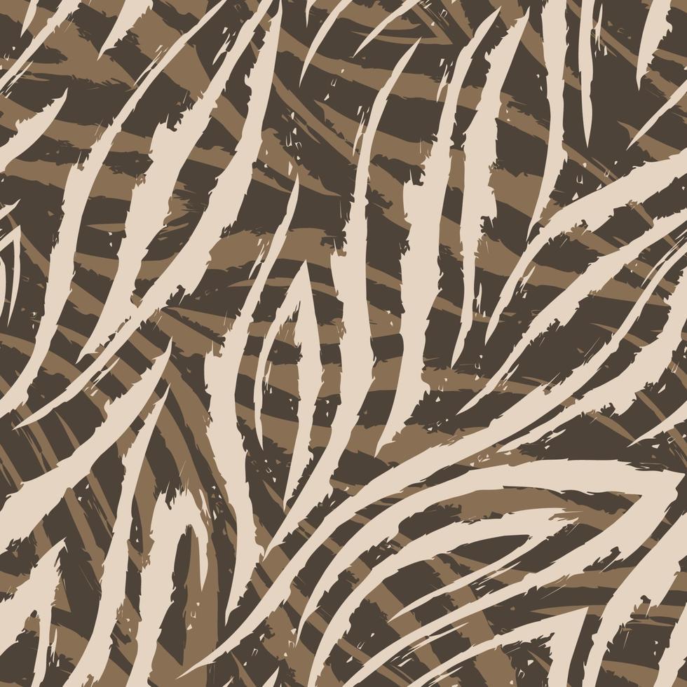vector naadloze patroon van beige lijnen en hoeken op een bruine achtergrond