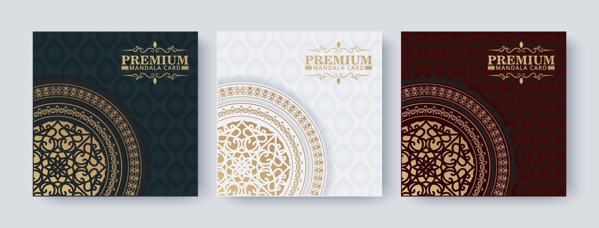 luxe mandala achtergrond conceptontwerp vector