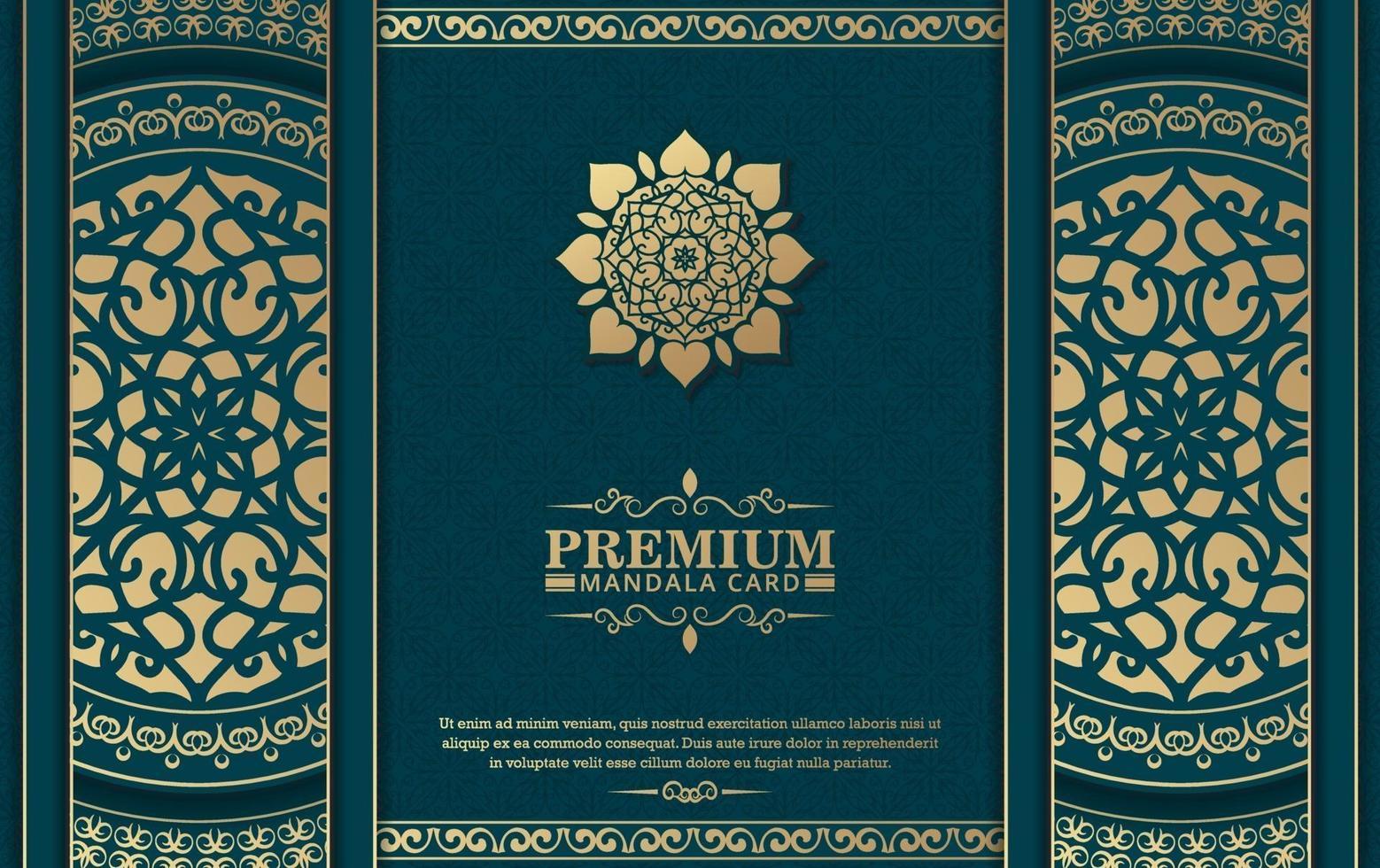 luxe sier mandala achtergrond met Arabische islamitische Oost-patroon stijl premium vector