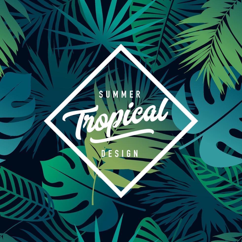 tropische banner ontwerp vector