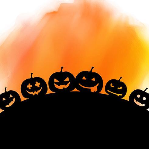 Halloween-achtergrond op waterverftextuur vector