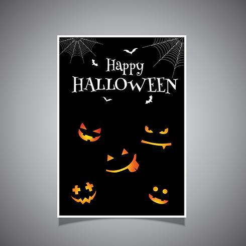 Halloween achtergrondontwerp vector