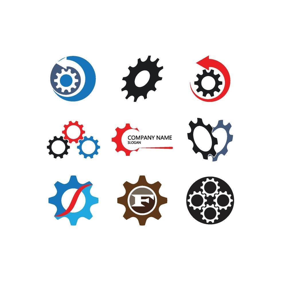 versnelling logo sjabloon vector