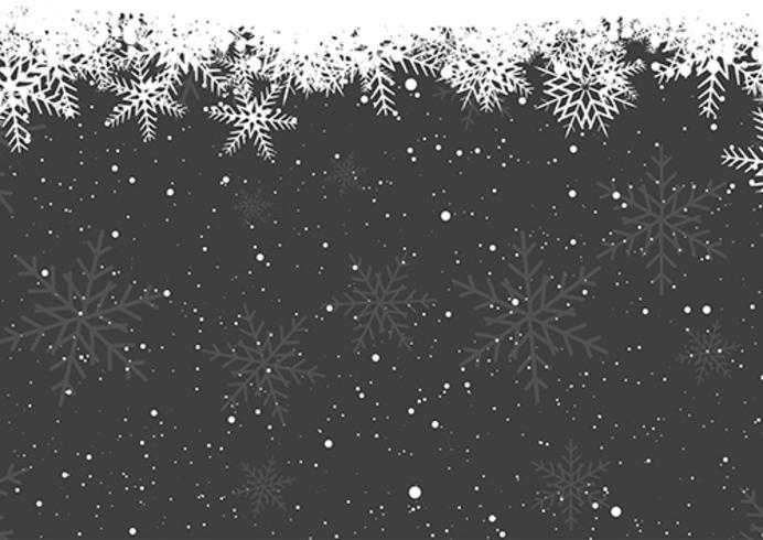 Winter sneeuwvlokken vector